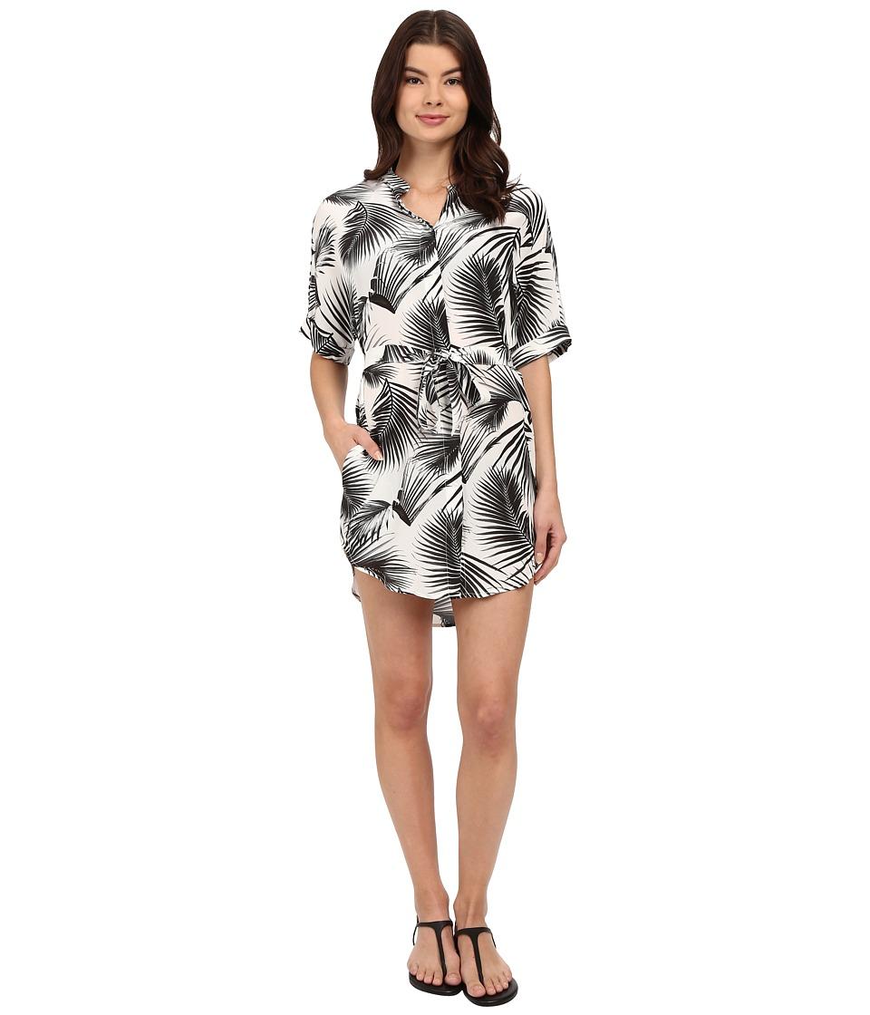 MIKOH SWIMWEAR - Anguilla Shirtdress Cover-Up (Palm Leaf) Women's Swimwear