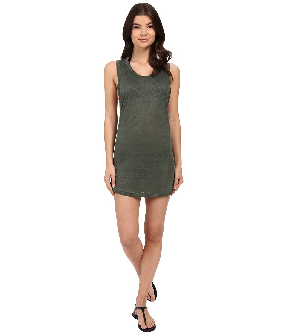 MIKOH SWIMWEAR - Prague Mini Dress Cover-Up (Army) Women's Swimwear