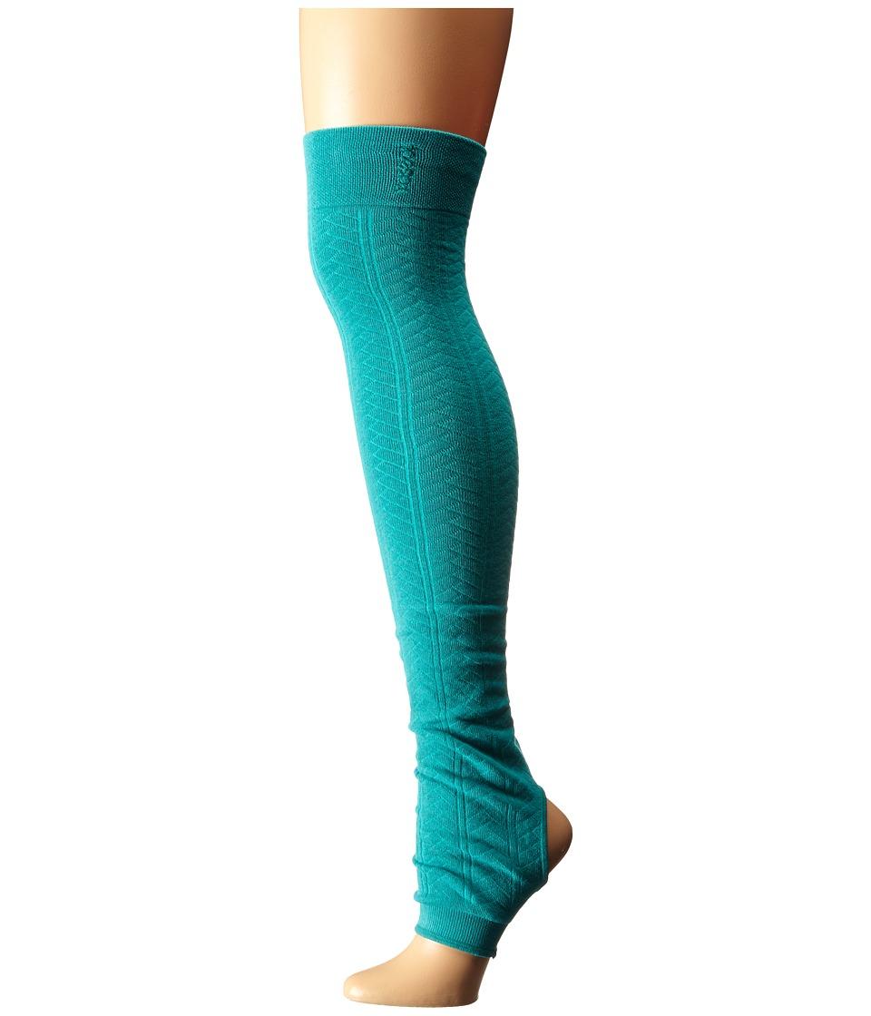 toesox - Leg Warmer-Open Heel (Lagoon) Women's Knee High Socks Shoes