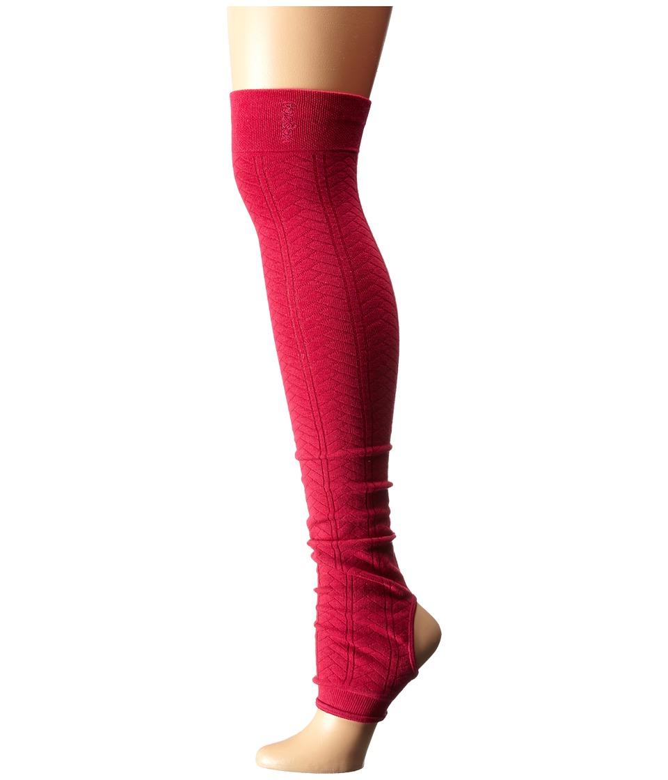 toesox - Leg Warmer-Open Heel (Fuchsia) Women's Knee High Socks Shoes