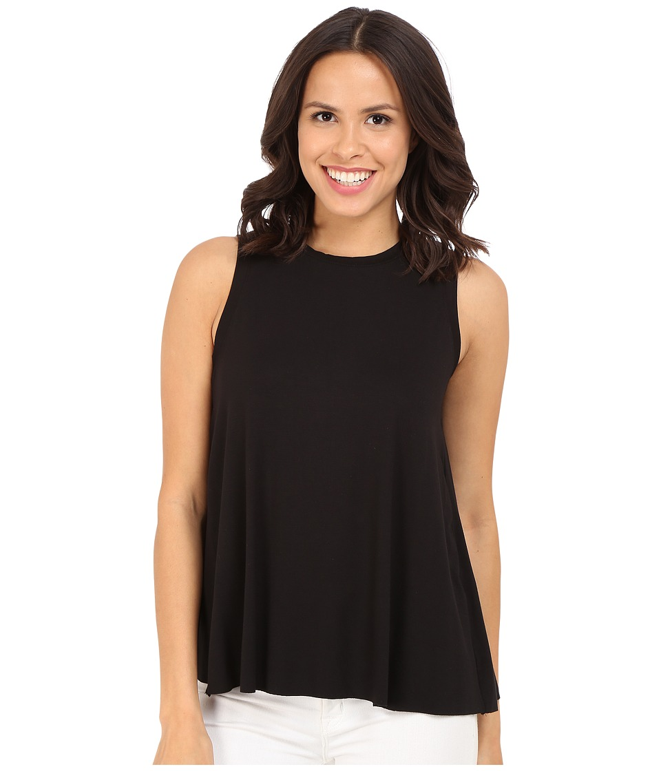 Three Dots - Keiko Sleeveless Drape Tank Top (Black) Women's Sleeveless
