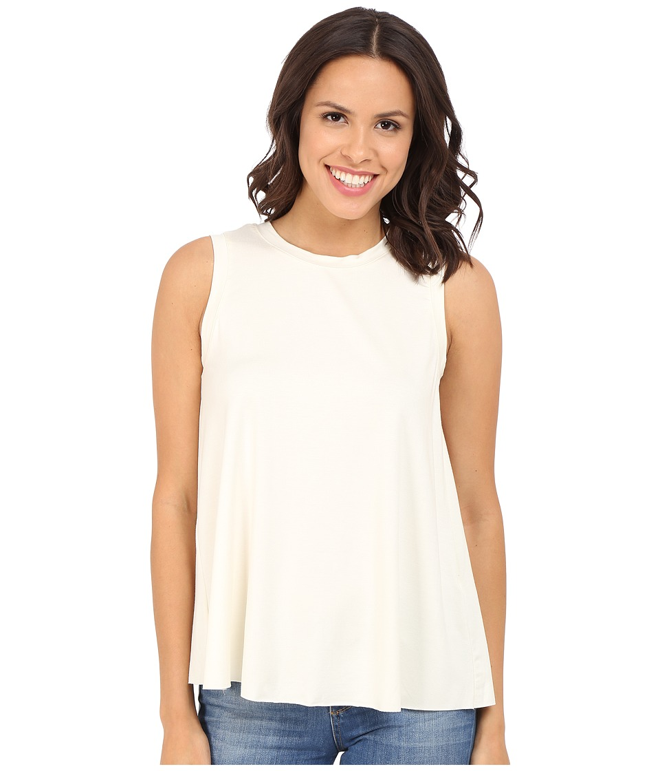 Three Dots - Keiko Sleeveless Drape Tank Top (Gardenia) Women's Sleeveless
