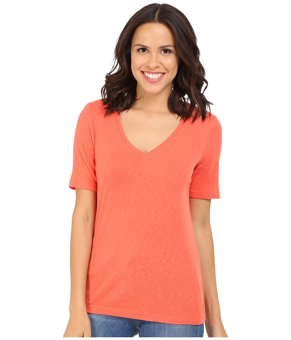 Three Dots - Ray 9 Sleeve Mid-V (Emberglow) Women's Clothing