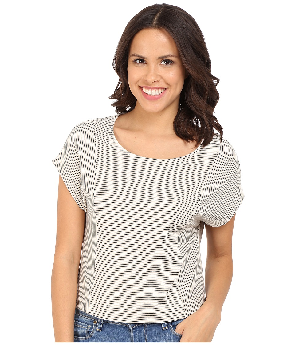 Three Dots - Elin Short Sleeve Top (Oatmeal) Women's Clothing