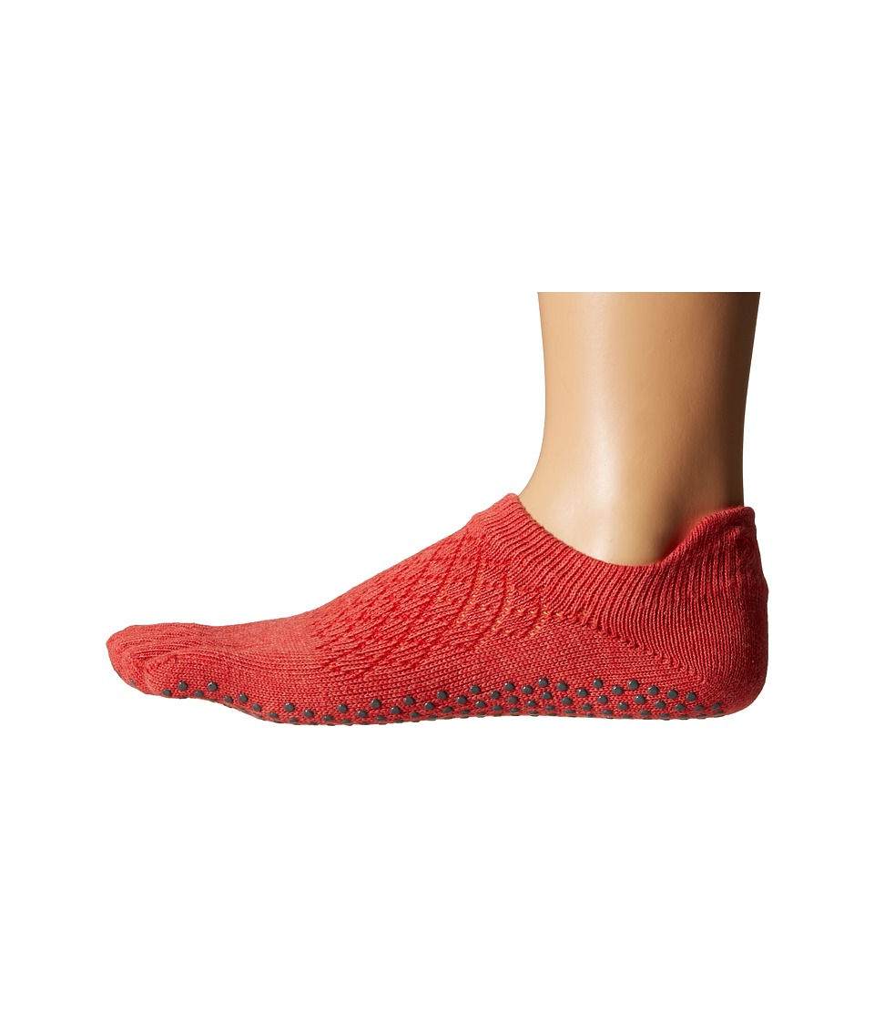 toesox - Low Rise Full Toe w/ Grip (Fishnet Poppy) Women's Quarter Length Socks Shoes