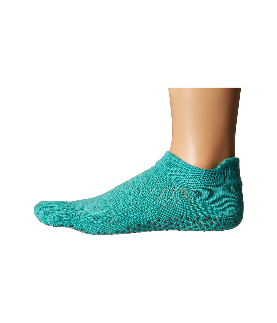 toesox - Low Rise Full Toe w/ Grip (Fishnet Lagoon) Women's Quarter Length Socks Shoes