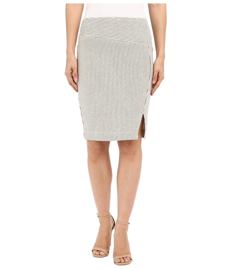 Three Dots Edda Seamed Skirt w/ Slit (Oatmeal) Women