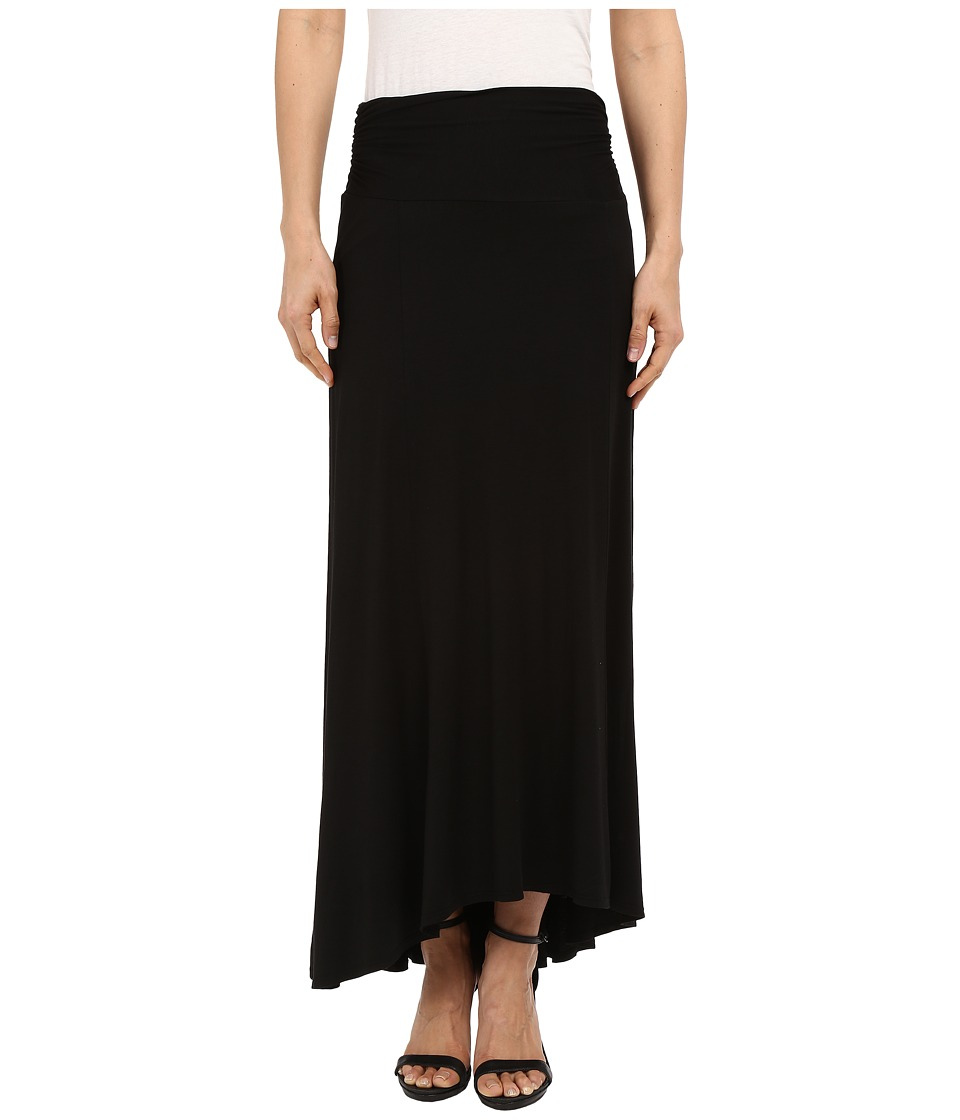 Three Dots - High-Low Maxi Skirt (Black) Women
