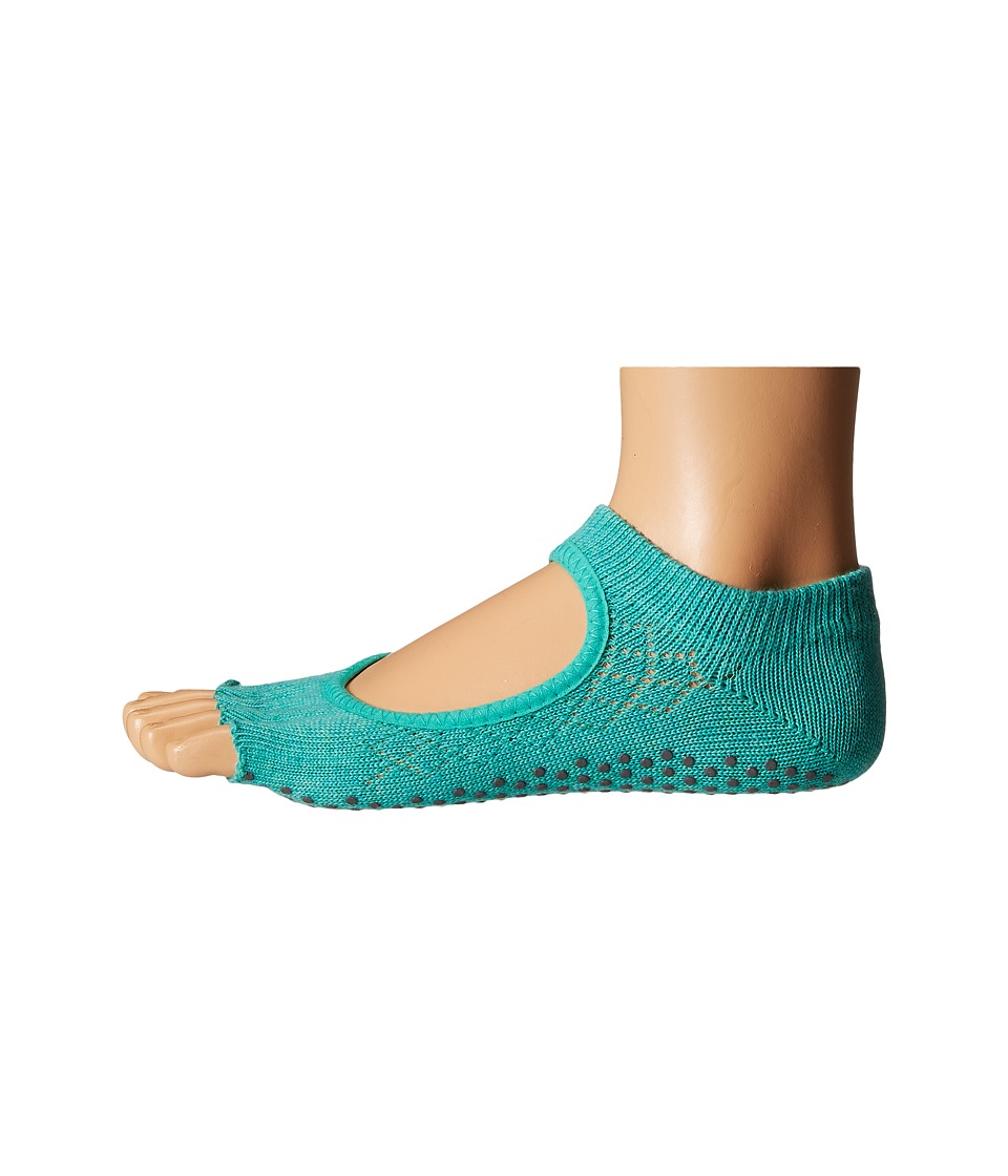 toesox - Bella Half Toe w/ Grip 1-Pair Pack (Fishnet Lagoon) Women's Low Cut Socks Shoes