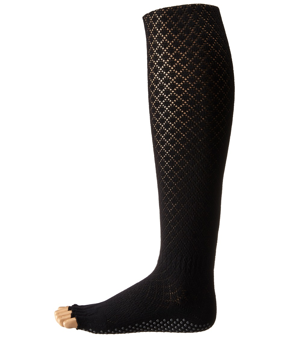 toesox - Grip Half Toe Scrunch (Fishnet Black) Women's Knee High Socks Shoes