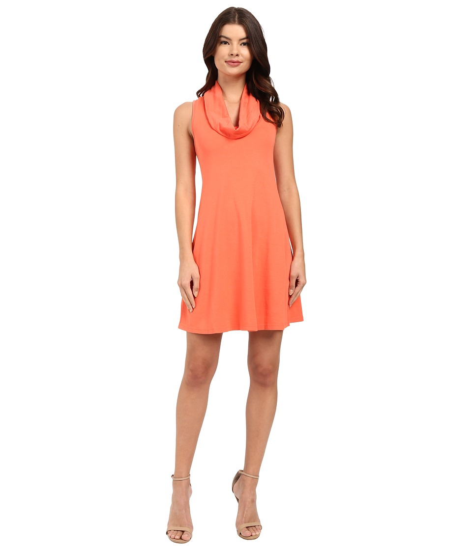 Three Dots Cowl Neck Tank Dress (Emberglow) Women