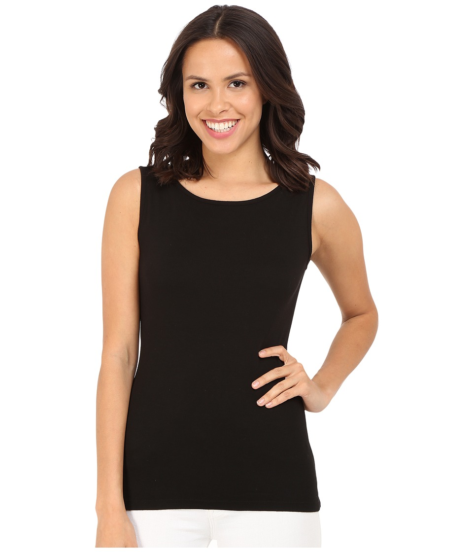 Three Dots - Sleeveless Scoop Neck Top (Black) Women's Sleeveless