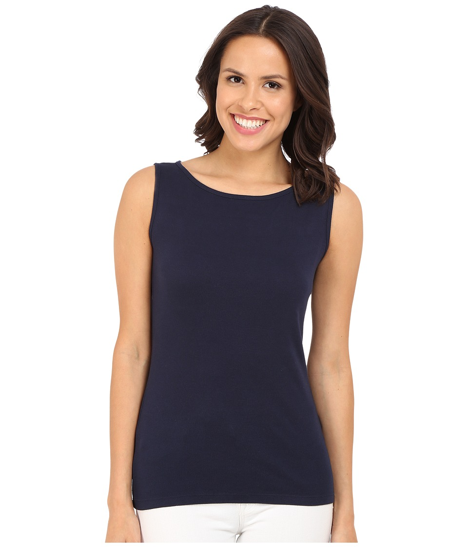 Three Dots - Sleeveless Scoop Neck Top (Night Iris) Women's Sleeveless