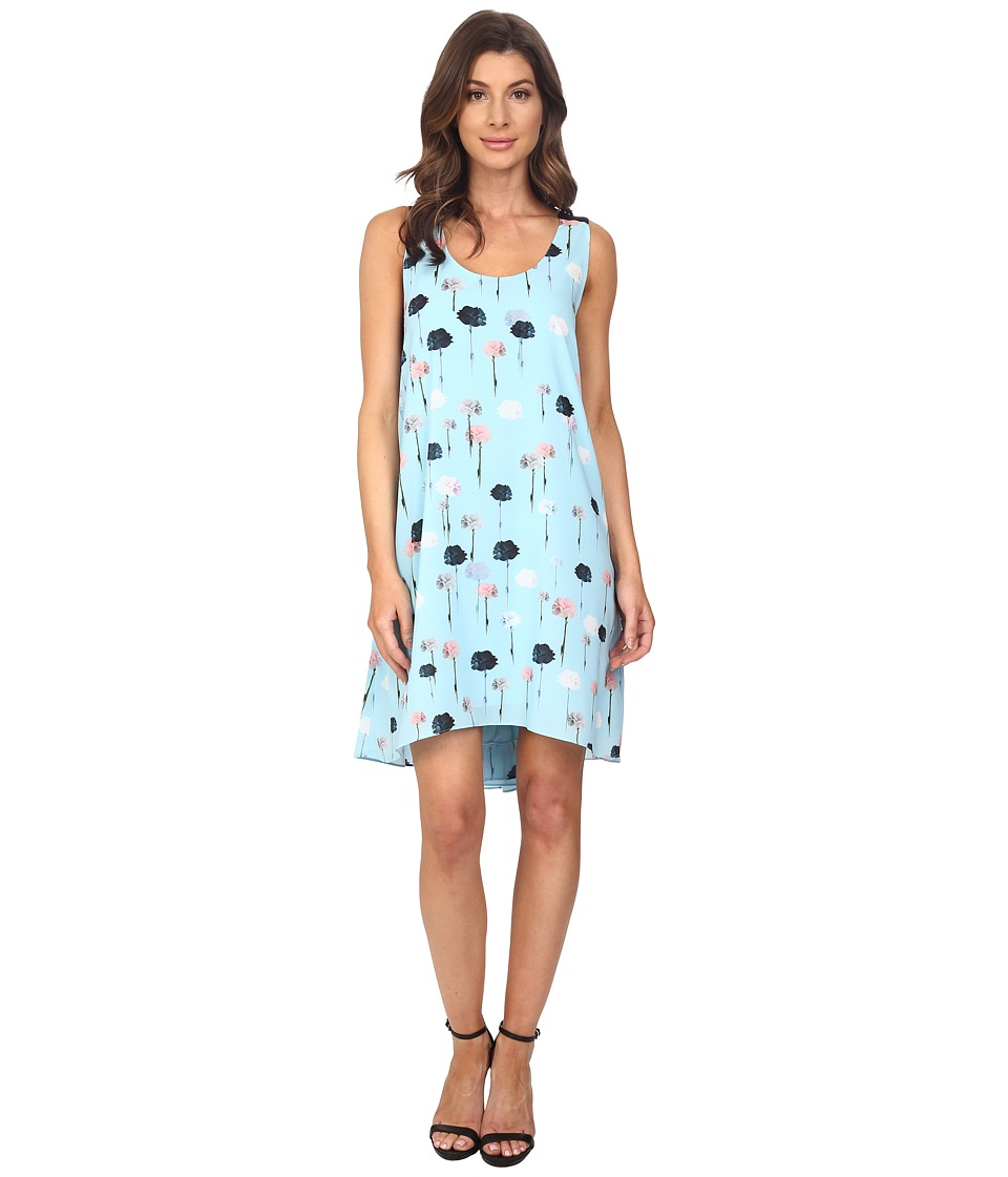 Adrianna Papell - Trapeze Top Stitched Dress (Azure/Black) Women's Dress
