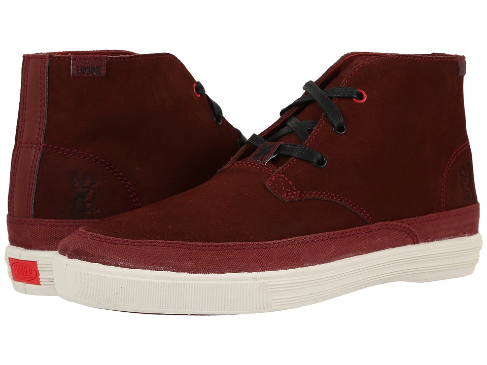 Chrome - Suede Chukka (Brick/Off-White) Men's Shoes