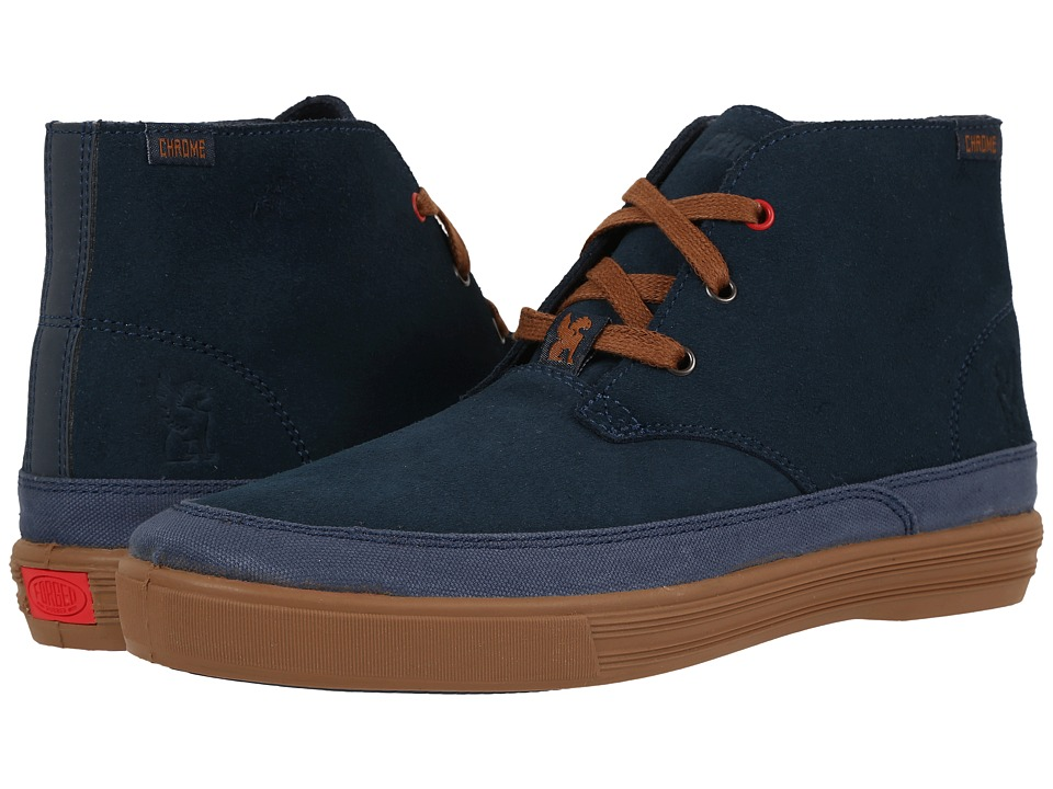 Chrome - Suede Chukka (Indigo/Golden Brown) Men's Shoes
