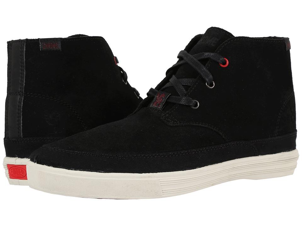 Chrome - Suede Chukka (Black/Off-White) Men's Shoes