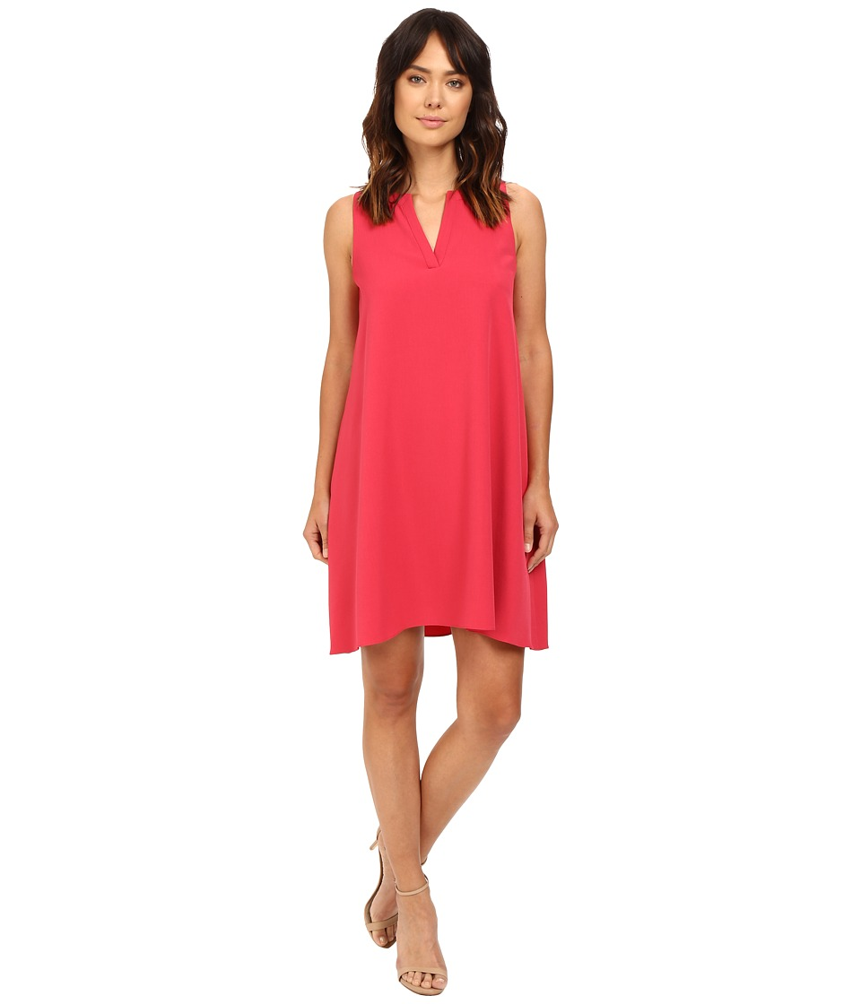 Adrianna Papell - Split Neck Shift Dress (Flare Red) Women's Dress