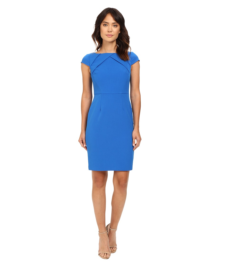 Adrianna Papell - Solid Origami Sheath Dress (Yves Blue) Women's Dress