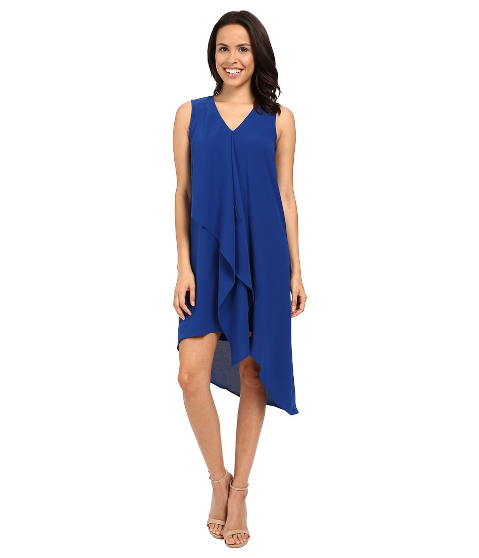 Adrianna Papell - Asymmetrical Front Drape Dress (Deep Ocean) Women's Dress