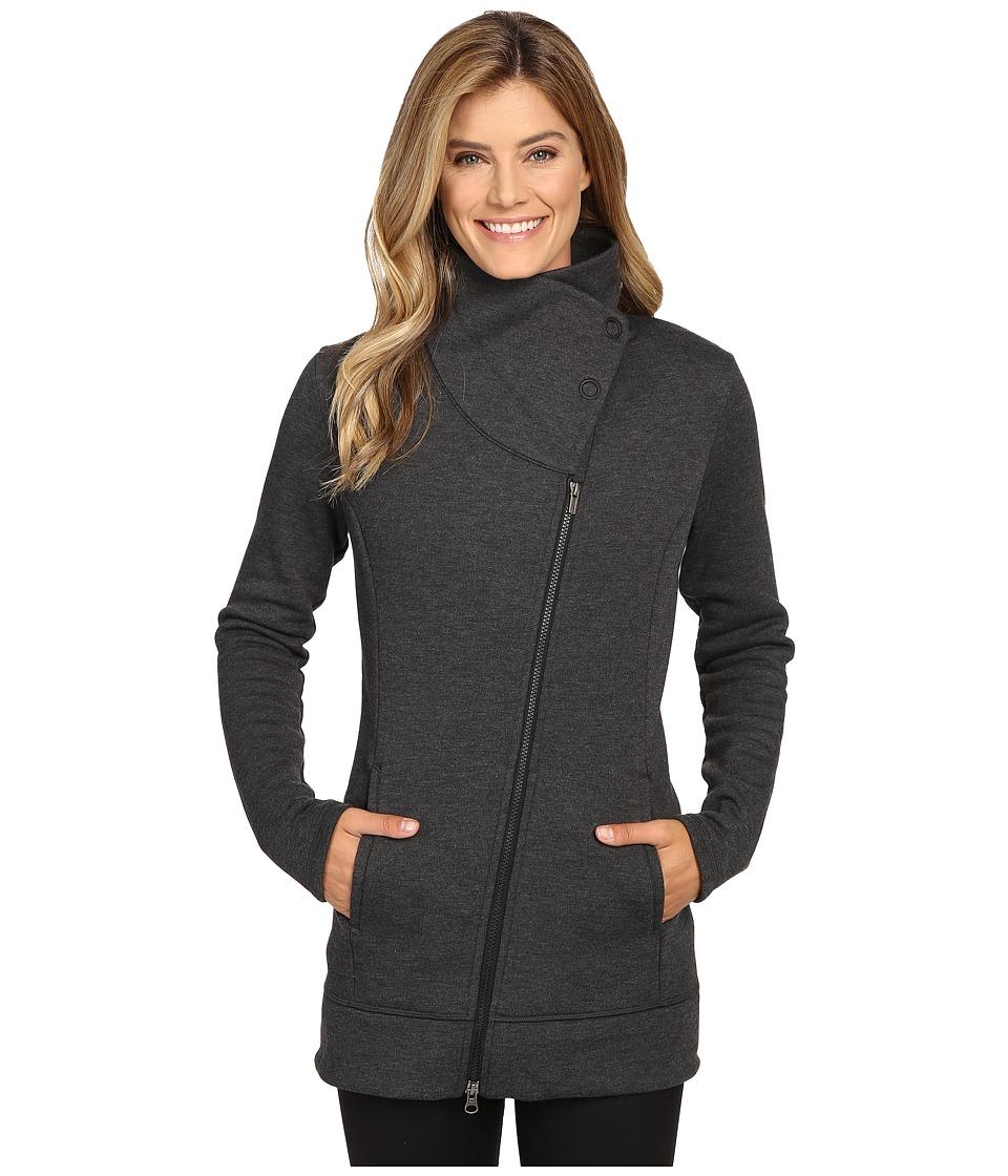 Lucy - Long Hatha Jacket (Lucy Black Heather) Women's Coat