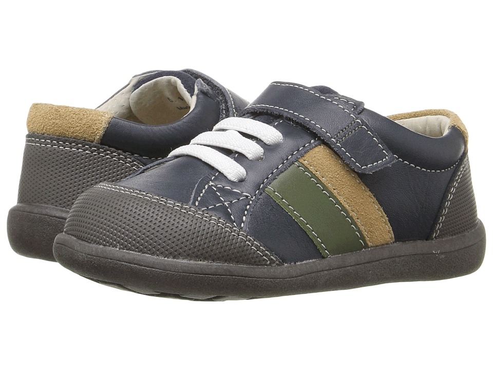 See Kai Run Kids - Randall (Toddler) (Navy Leather) Boy's Shoes