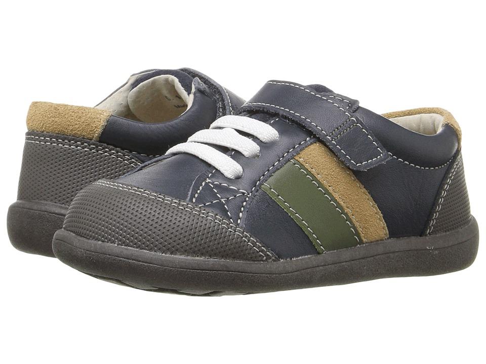See Kai Run Kids - Randall (Toddler) (Navy Leather) Boy's Shoes