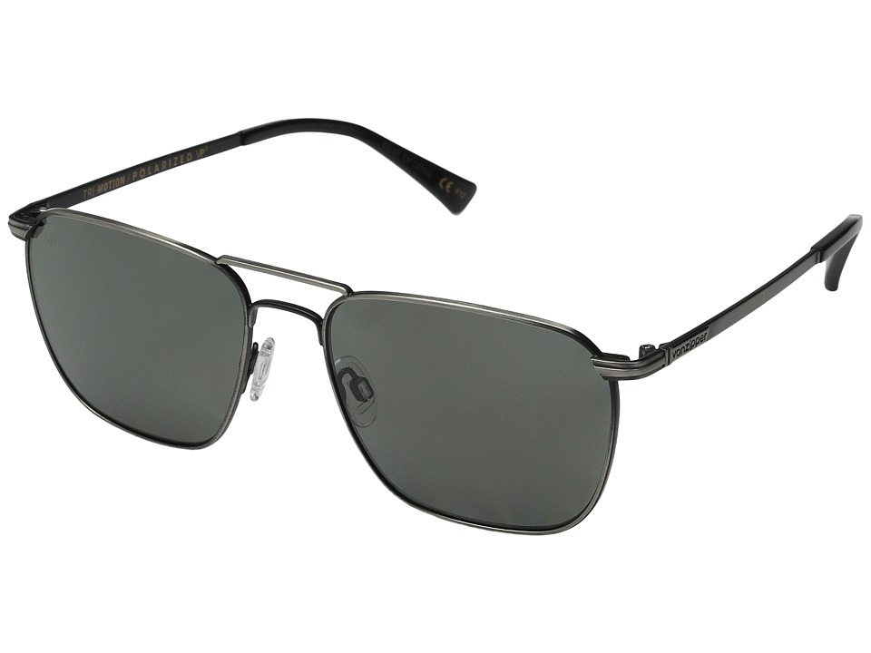 VonZipper - League Polarized (Antique Charcoal/Grey Poly Polarized) Sport Sunglasses