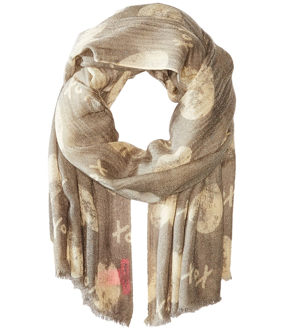 Betsey Johnson - Cross My Heart Wrap (Grey) Scarves
