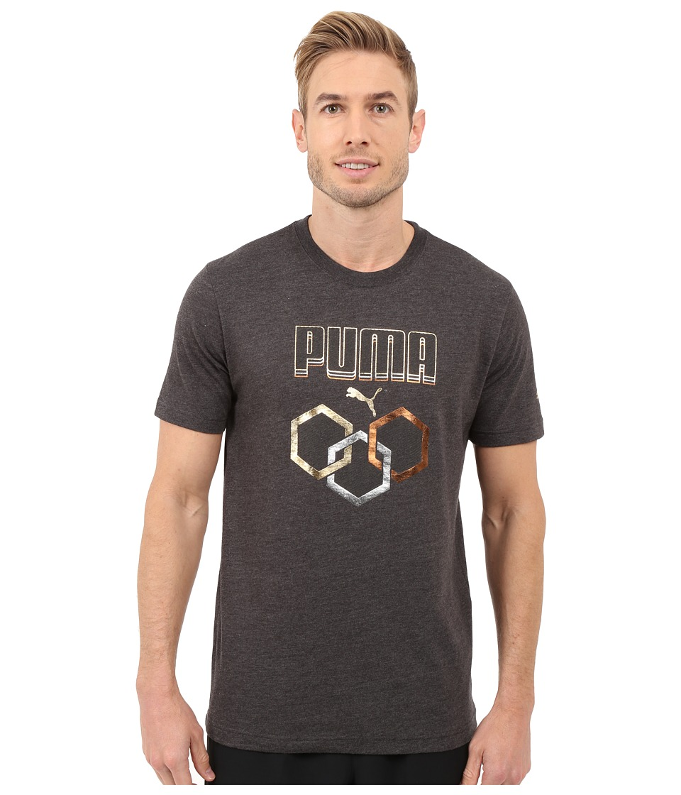 PUMA - Hex Ring Tee (Dark Gray Heather) Men's T Shirt