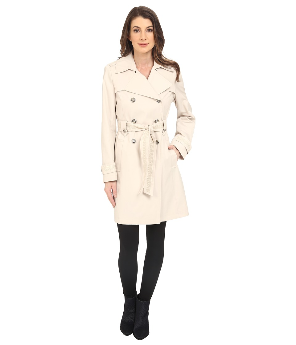 Via Spiga - Double Breasted Scarpa Coat (Muslin) Women's Coat