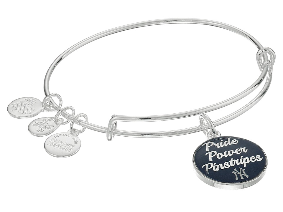Alex and Ani - Pride Power Pinstripes Charm Bracelet (Rafaelian Silver) Bracelet