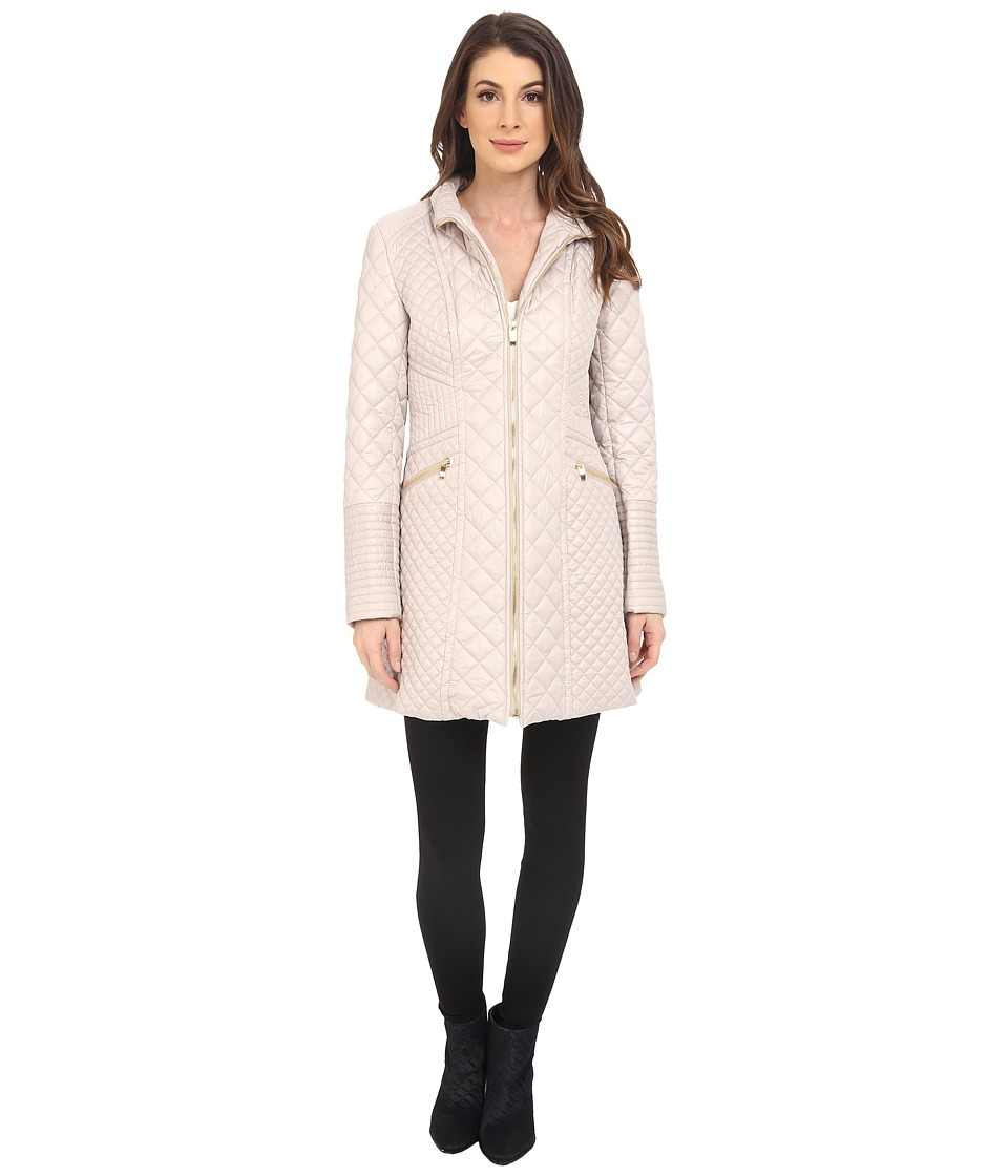 Via Spiga - Mixed Quilt Jacket (Oyster) Women's Coat