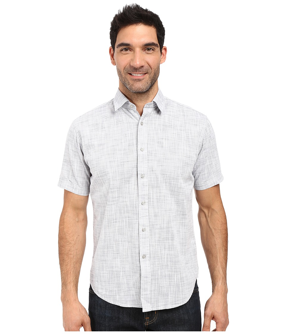 James Campbell - Bistro Short Sleeve Woven (Midnight) Men's Short Sleeve Button Up