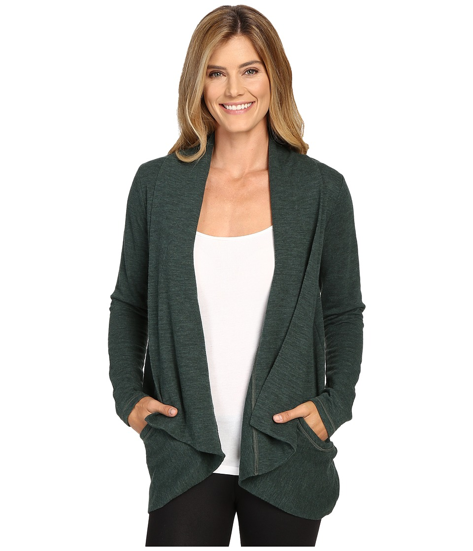 Lucy - Tranquility Slub Wrap (Deep Forest Heather) Women's Sweater