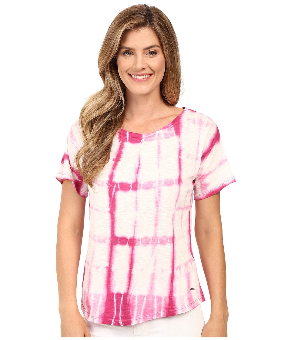 Calvin Klein Jeans - Short Sleeve Tie-Dye Shirt (Wild Astor) Women's Short Sleeve Pullover