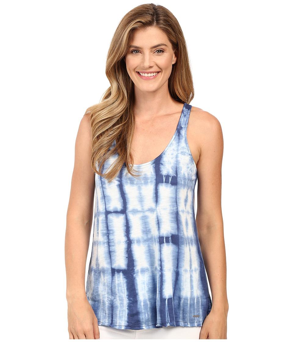 Calvin Klein Jeans - Sleeveless Tie-Dye Shirt (Deep Denim) Women's Sleeveless