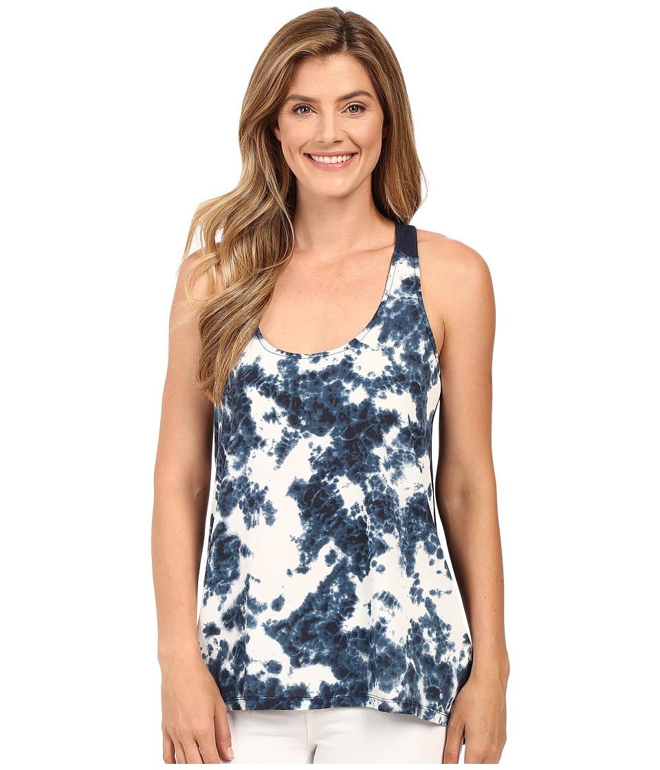 Calvin Klein Jeans - Printed Mixed Media Tank Top (River) Women's Sleeveless