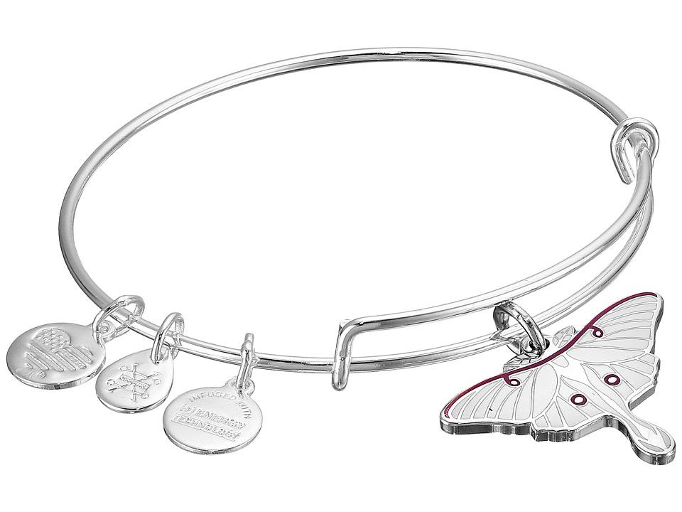 Alex and Ani - Luna Moth Bracelet (Rafaelian Silver) Charms Bracelet