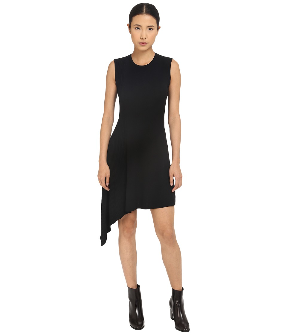 Neil Barrett - Mixed Yarns Bicolour Asymmetrical Dress (Black) Women's Dress