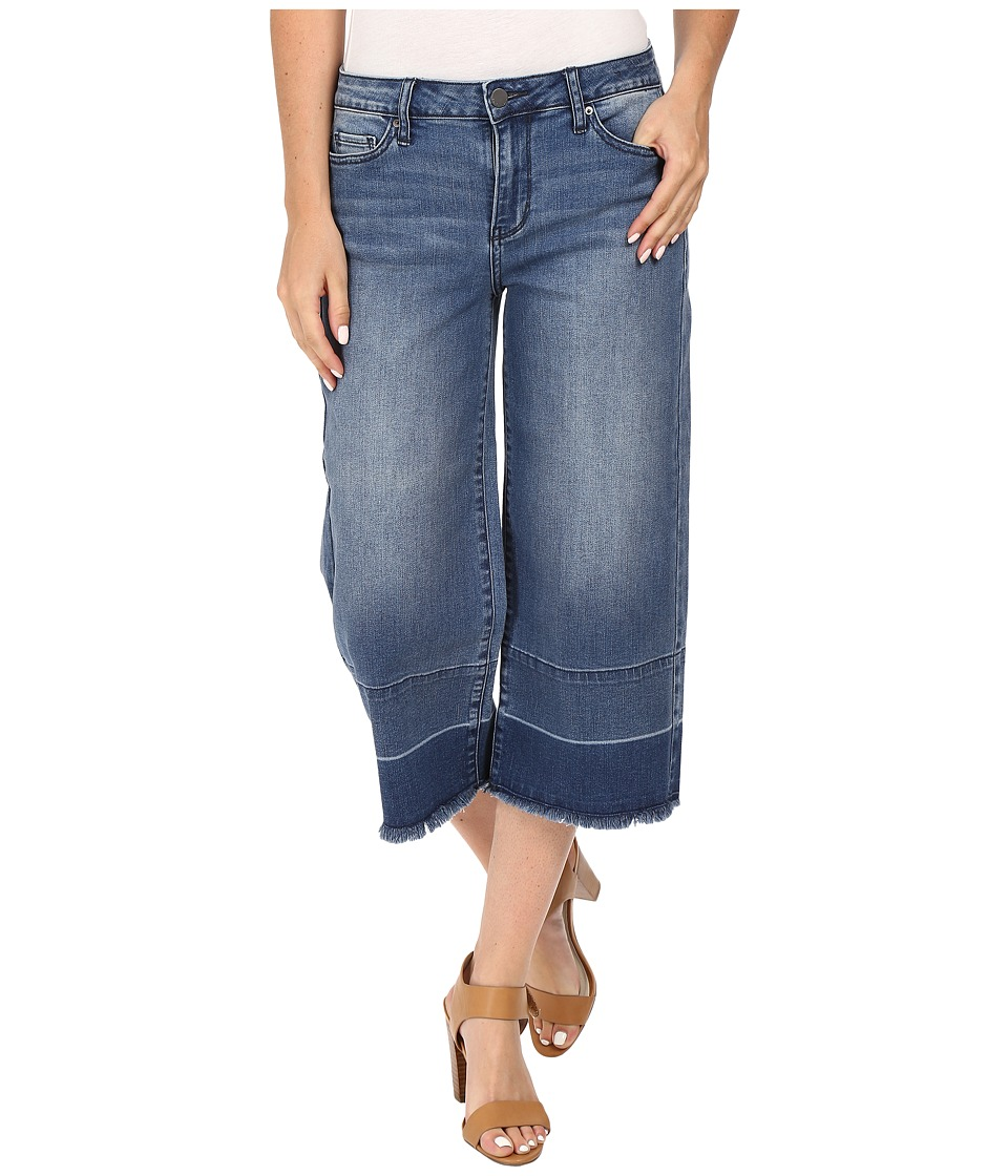 Calvin Klein Jeans - Wide Leg Crop Jeans in High Tide (High Tide) Women's Jeans