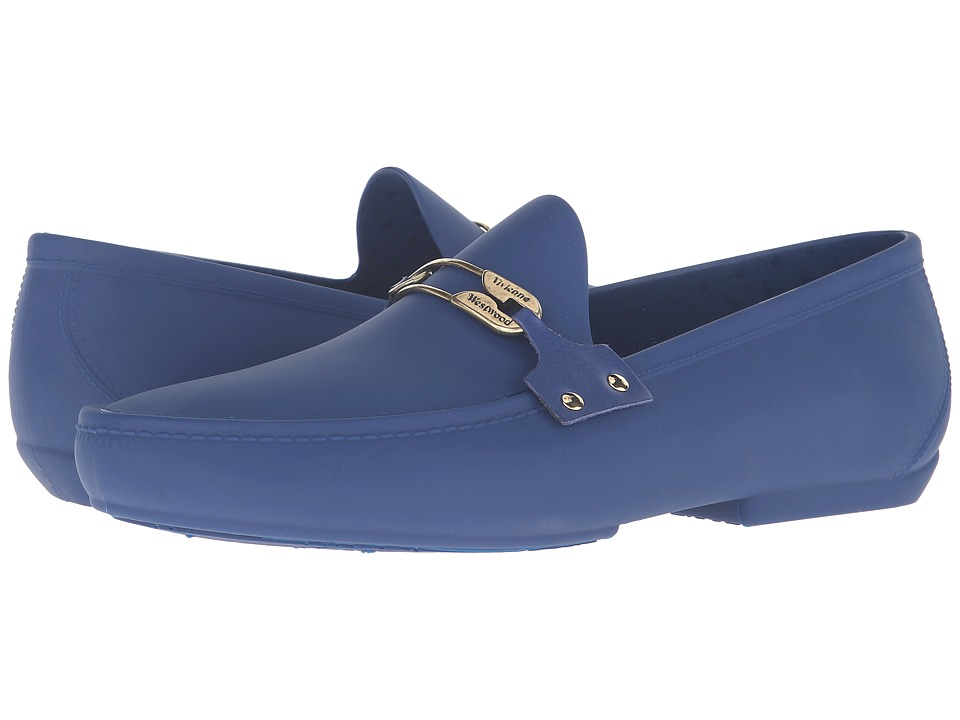 Vivienne Westwood - Safety Pin Plastic Mocassin (Sapphire Blue) Men's Moccasin Shoes