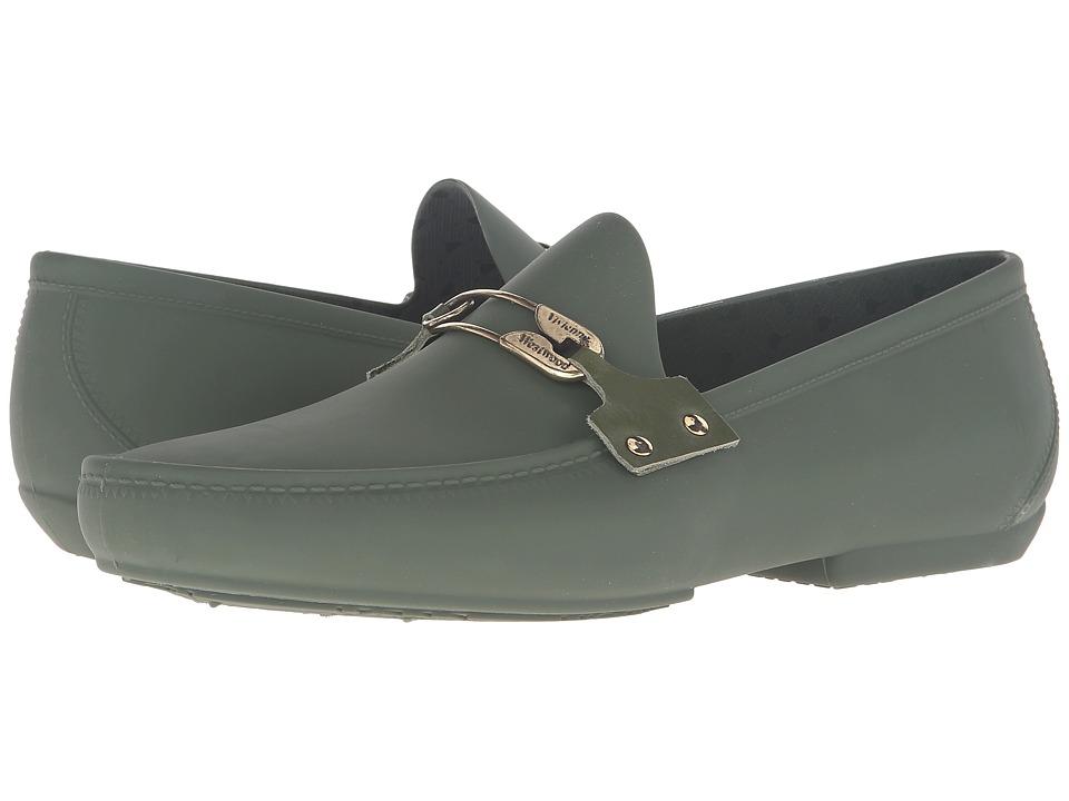 Vivienne Westwood - Safety Pin Plastic Mocassin (Green) Men's Moccasin Shoes