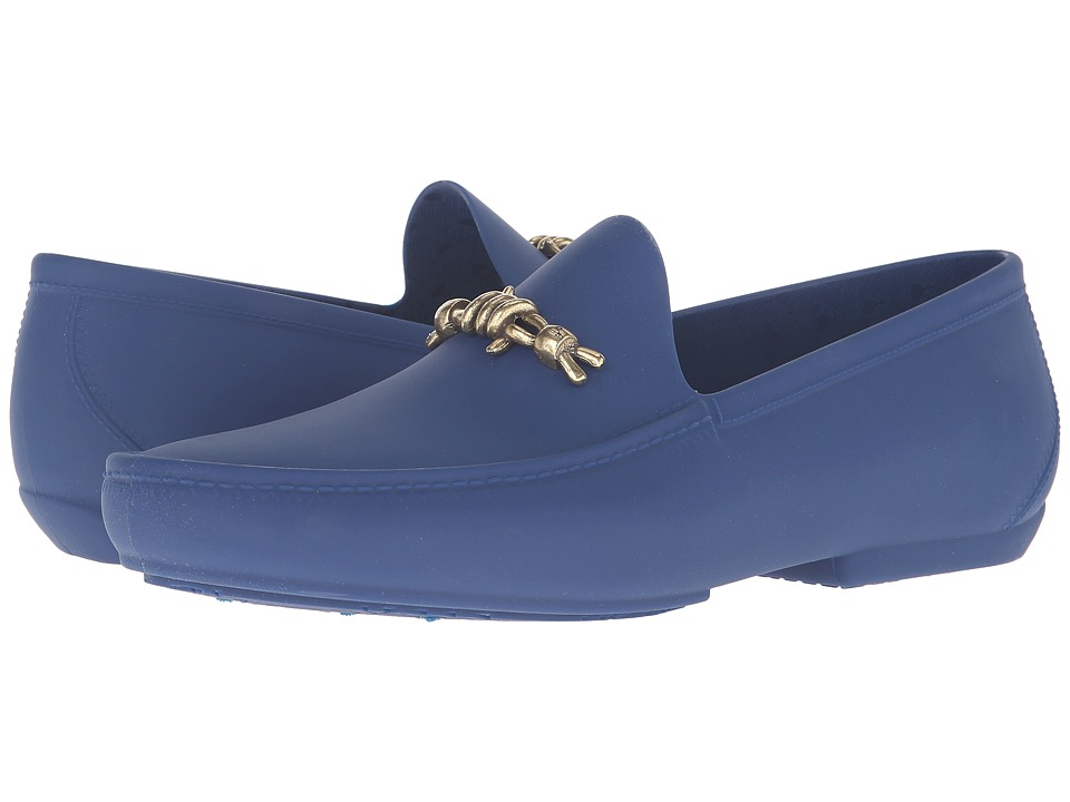 Vivienne Westwood - Barbed Wire Plastic Mocassin (Sapphire Blue) Men's Moccasin Shoes