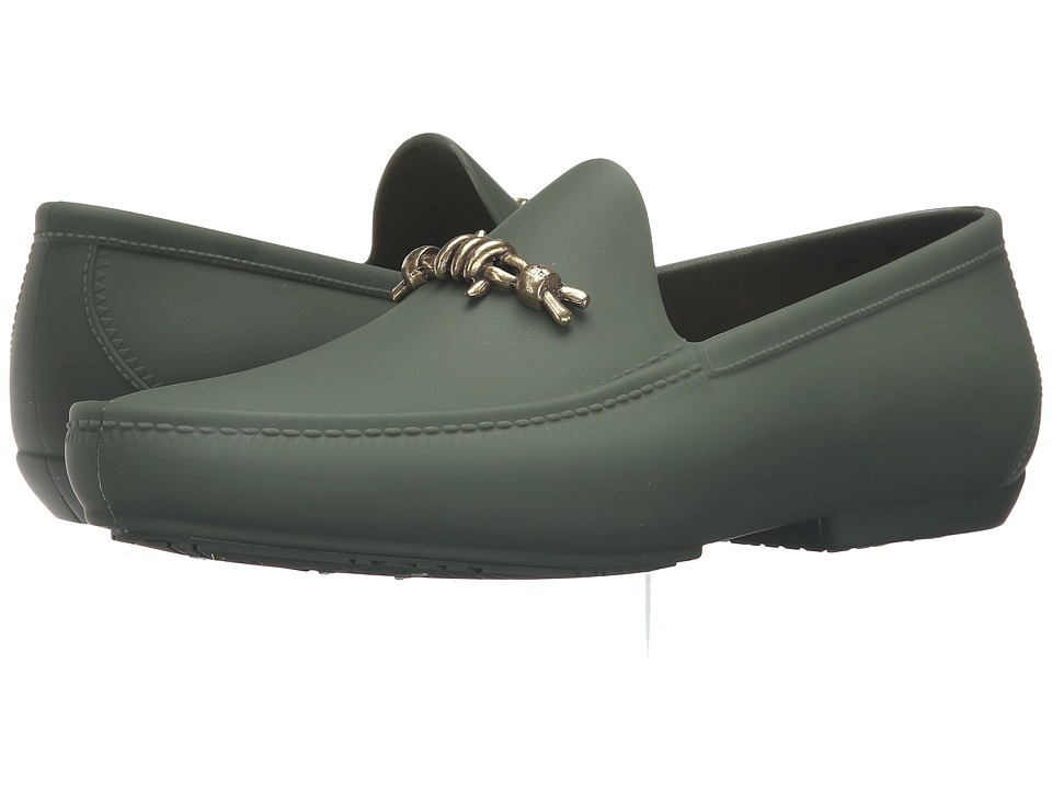 Vivienne Westwood - Barbed Wire Plastic Mocassin (Green) Men's Moccasin Shoes