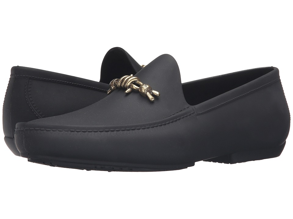 Vivienne Westwood - Barbed Wire Plastic Mocassin (Black) Men's Moccasin Shoes