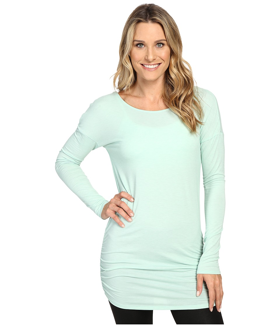 Lucy - Yoga Girl Long Sleeve Top (Morning Mist Heather) Women's Long Sleeve Pullover