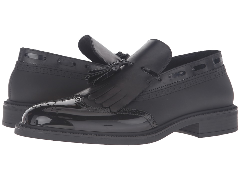 Vivienne Westwood - Slip-On Plastic Brogue (Black/Black) Men's Slip on Shoes