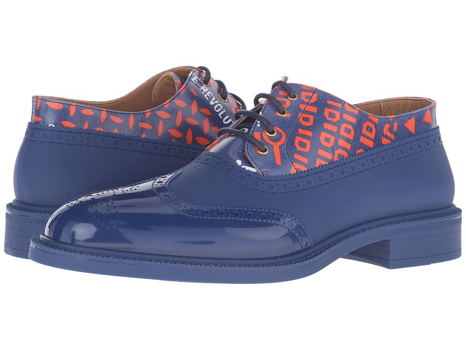 Vivienne Westwood Lace-Up Plastic Brogue (Sapphire Blue) Men