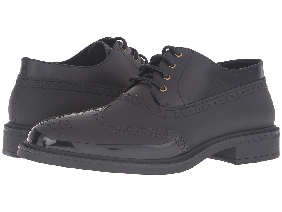 Vivienne Westwood Lace-Up Plastic Brogue (Black/Black) Men
